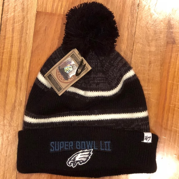 6ad129890c8 NWT Eagles Super Bowl Beanie